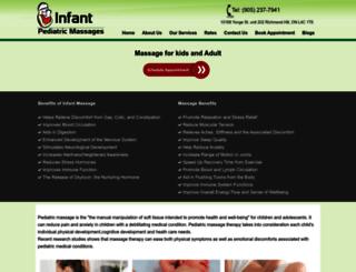 pediatricmassages.ca screenshot