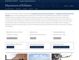 pediatrics.georgetown.edu screenshot