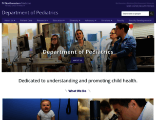 pediatrics.northwestern.edu screenshot