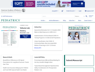 pediatrics.org screenshot