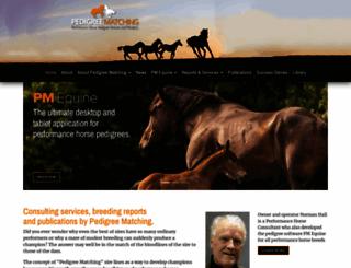 pedigreematching.com screenshot