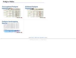 pedigreeonline.com screenshot