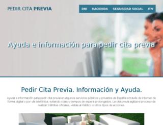 pedircitaprevia.com screenshot