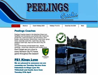 peelingscoaches.co.uk screenshot