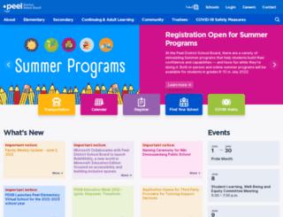 peelschools.org screenshot