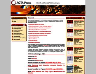 peer-review.actapress.com screenshot