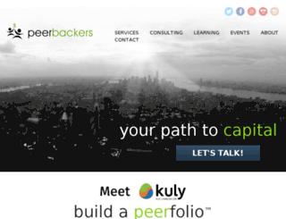 peerbackers.com screenshot