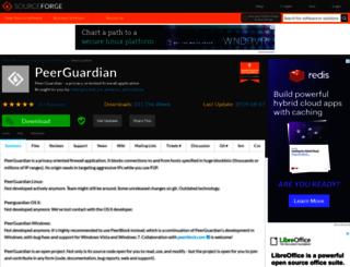 peerguardian.sourceforge.net screenshot