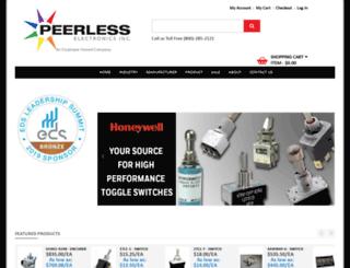 peerlesselectronics.com screenshot