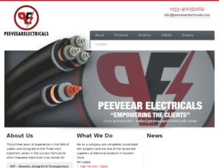 peeveearelectricals.com screenshot
