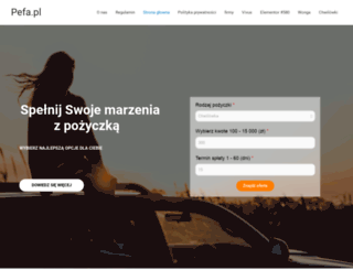 pefa.pl screenshot