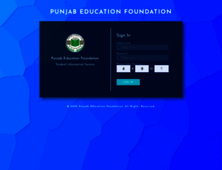 pefsis.edu.pk screenshot