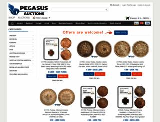 pegasusauctions.com screenshot
