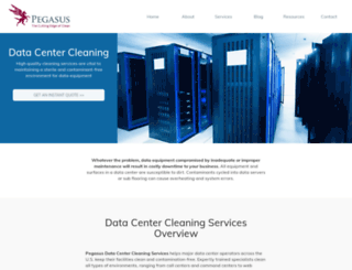 pegasusdatacentercleaning.com screenshot