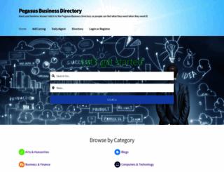 pegasusdirectory.com screenshot