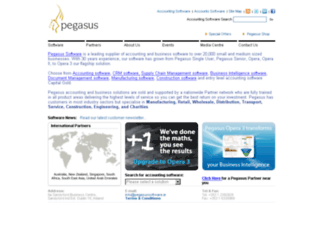 pegasussoftware.ie screenshot