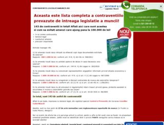 pegauracheii.legislatiamuncii.ro screenshot