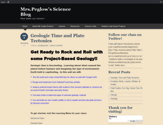 peglowj.edublogs.org screenshot