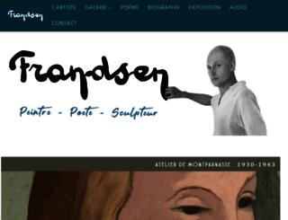 peintre-emile-frandsen.com screenshot