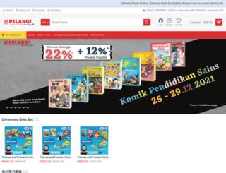 pelangibooks.com screenshot