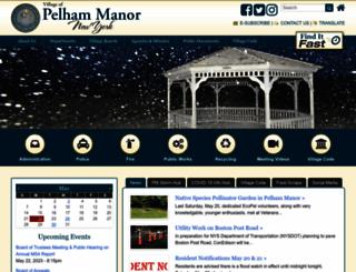 pelhammanor.org screenshot