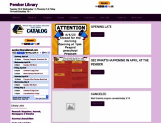 pember.sals.edu screenshot