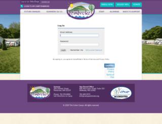 pembroke.campintouch.com screenshot
