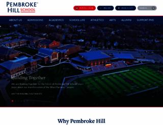 pembrokehill.org screenshot