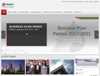 pemex.gob.mx screenshot