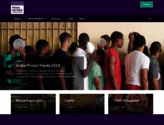 penalreform.org screenshot