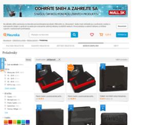 penazenky.heureka.sk screenshot