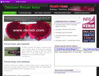 pencarikerja.denidi.com screenshot