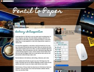 pencil-to-paper.blogspot.com screenshot