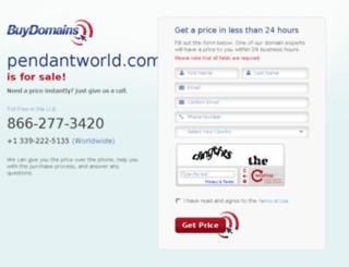 pendantworld.com screenshot