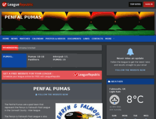 penfalpumas.leaguerepublic.com screenshot