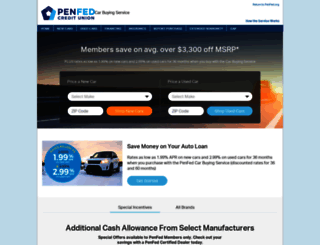 penfed.truecar.com screenshot