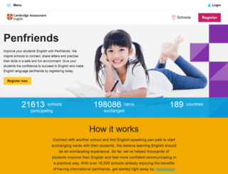penfriends.cambridgeenglish.org screenshot