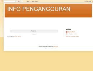 pengangguran.info screenshot