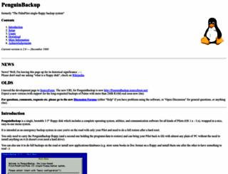 penguinbackup.sourceforge.net screenshot