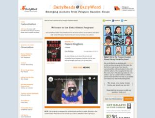 penguindebutauthors.earlyword.com screenshot