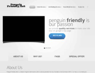 penguinfriendly.net screenshot
