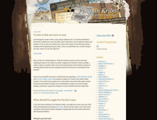 penguinkribo.blogspot.com screenshot