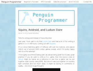 penguinprogrammer.co.uk screenshot