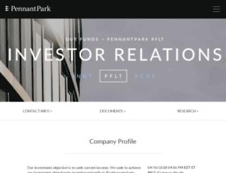 pennantpark.mwnewsroom.com screenshot