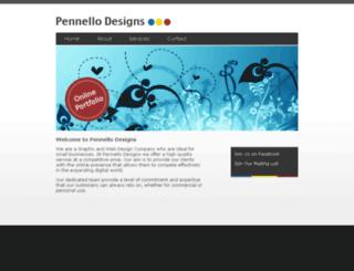pennellodesigns.com screenshot