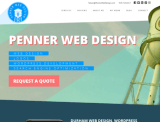pennerwebdesign.com screenshot