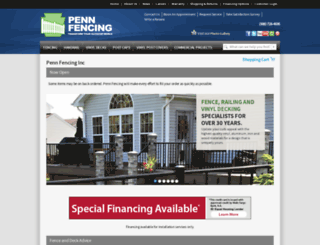 pennfence.com screenshot
