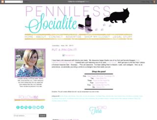 pennilesssocialite.blogspot.ca screenshot