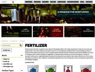 penningtonfertilizer.com screenshot
