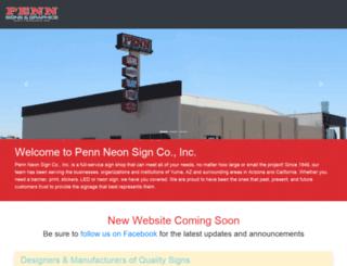 pennsigns.com screenshot